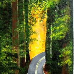 forest , 12 x 16 inch, lipsha sahoo,12x16inch,canvas board,paintings,nature paintings   scenery paintings,paintings for dining room,paintings for living room,paintings for bedroom,paintings for office,paintings for kids room,paintings for hotel,paintings for school,acrylic color,GAL01763532709