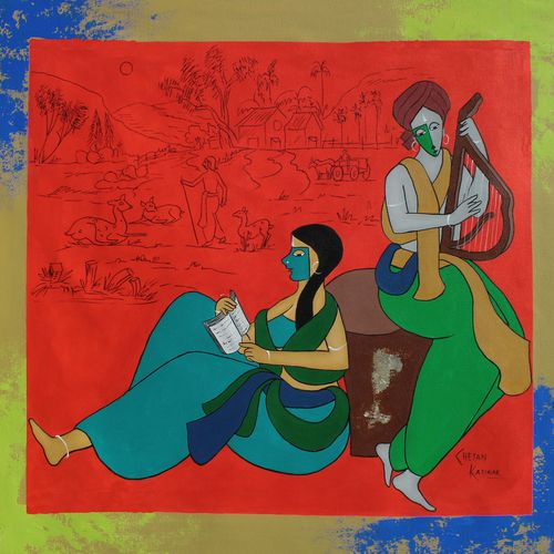 felicitous, 40 x 40 inch, chetan katigar,40x40inch,canvas,paintings,abstract paintings,figurative paintings,flower paintings,foil paintings,landscape paintings,modern art paintings,conceptual paintings,religious paintings,nature paintings | scenery paintings,abstract expressionism paintings,art deco paintings,expressionism paintings,impressionist paintings,ganesha paintings | lord ganesh paintings,radha krishna paintings,contemporary paintings,realistic paintings,love paintings,children paintings,lord shiva paintings,paintings for dining room,paintings for living room,paintings for bedroom,paintings for office,paintings for bathroom,paintings for kids room,paintings for hotel,paintings for kitchen,paintings for hospital,acrylic color,GAL026632711