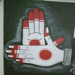beautiful dancing hand mudra, 8 x 10 inch, shambhavi mishra mishra,8x10inch,canvas board,paintings,folk art paintings,paintings for dining room,paintings for living room,paintings for bedroom,paintings for office,paintings for school,acrylic color,GAL01966832718