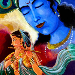 lord radha and krishna, 8 x 10 inch, ashwinikumar nagarkar,8x10inch,hardboard,paintings,figurative paintings,portrait paintings,art deco paintings,radha krishna paintings,realistic paintings,love paintings,paintings for dining room,paintings for living room,paintings for bedroom,paintings for office,paintings for hotel,paintings for kitchen,paintings for school,paintings for hospital,acrylic color,paper,GAL02087432751