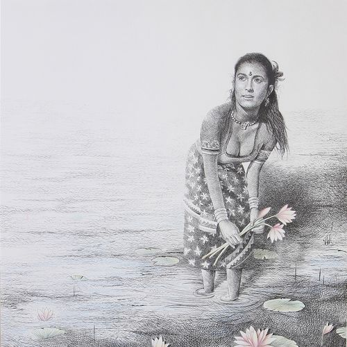 kamala, 27 x 33 inch, nidhi gupta,27x33inch,thick paper,paintings,figurative paintings,portrait paintings,nature paintings | scenery paintings,love paintings,paintings for dining room,paintings for living room,paintings for bedroom,paintings for dining room,paintings for living room,paintings for bedroom,acrylic color,ink color,mixed media,pastel color,pen color,pencil color,paper,GAL0988332765