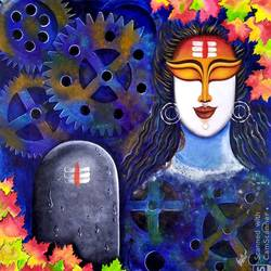 digambara, 30 x 30 inch, susmita mandal,30x30inch,canvas,paintings,contemporary paintings,paintings for living room,acrylic color,GAL01940532769