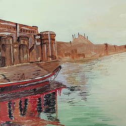 varanasi ghat, 16 x 12 inch, tejal bhagat,16x12inch,canvas board,paintings,figurative paintings,landscape paintings,religious paintings,nature paintings | scenery paintings,expressionism paintings,impressionist paintings,photorealism paintings,photorealism,realism paintings,surrealism paintings,realistic paintings,kalighat painting,paintings for dining room,paintings for living room,paintings for bedroom,paintings for office,paintings for hotel,acrylic color,GAL02041532777