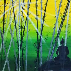 buddha painting v 1.1, 21 x 17 inch, sandeep kumar singh,21x17inch,canvas,paintings,buddha paintings,religious paintings,nature paintings | scenery paintings,paintings for dining room,paintings for living room,paintings for bedroom,paintings for office,acrylic color,mixed media,GAL02094332786