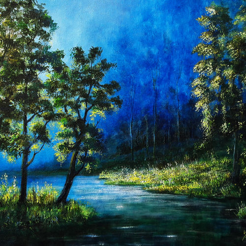 morning rays, 24 x 18 inch, seby augustine,24x18inch,canvas,paintings,still life paintings,nature paintings | scenery paintings,photorealism paintings,paintings for dining room,paintings for living room,paintings for bedroom,paintings for office,paintings for kids room,paintings for hotel,paintings for school,paintings for hospital,acrylic color,GAL015032790