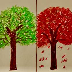 shades of seasons, 45 x 25 inch, sarmistha nanda,45x25inch,drawing paper,paintings,modern art paintings,conceptual paintings,paintings for dining room,paintings for living room,paintings for bedroom,paintings for office,paintings for bathroom,paintings for kids room,paintings for hotel,paintings for kitchen,paintings for school,paintings for hospital,pastel color,watercolor,paper,GAL02064632807