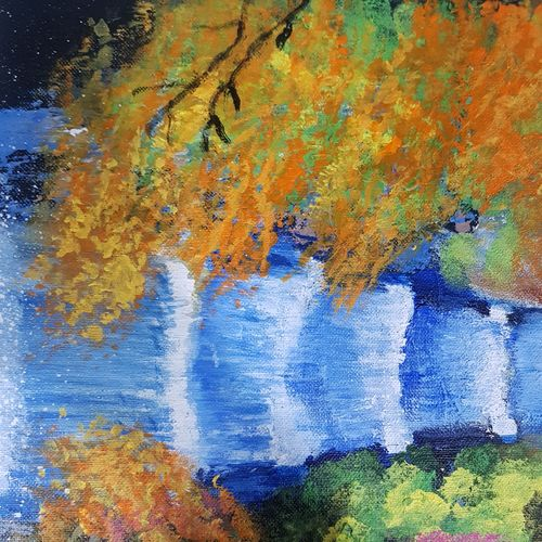 waterfall , 12 x 16 inch, shweta gupta,12x16inch,canvas,paintings,abstract paintings,landscape paintings,acrylic color,GAL02103632829