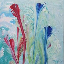flowers, 12 x 18 inch, sheetal chaudhary,12x18inch,canvas,paintings,abstract paintings,flower paintings,landscape paintings,modern art paintings,nature paintings   scenery paintings,abstract expressionism paintings,paintings for dining room,paintings for living room,paintings for bedroom,paintings for office,paintings for bathroom,paintings for kids room,paintings for hotel,paintings for kitchen,paintings for school,paintings for hospital,acrylic color,GAL01560332837
