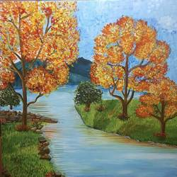 autumn landscape , 36 x 36 inch, sheetal chaudhary,36x36inch,canvas,paintings,abstract paintings,landscape paintings,modern art paintings,nature paintings | scenery paintings,abstract expressionism paintings,paintings for dining room,paintings for living room,paintings for bedroom,paintings for office,paintings for kids room,paintings for hotel,paintings for kitchen,paintings for school,paintings for hospital,acrylic color,GAL01560332847