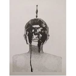 the black soul, 10 x 14 inch, maitri jani,10x14inch,thick paper,figurative drawings,pen color,GAL02108432870