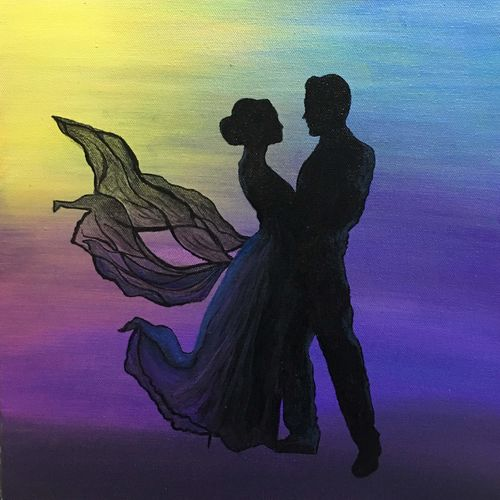 couple dancing silhouette , 10 x 10 inch, lisa serene,10x10inch,canvas,paintings,figurative paintings,portrait paintings,expressionism paintings,paintings for dining room,paintings for living room,paintings for bedroom,paintings for office,paintings for bathroom,paintings for hotel,paintings for kitchen,paintings for dining room,paintings for living room,paintings for bedroom,paintings for office,paintings for bathroom,paintings for hotel,paintings for kitchen,acrylic color,GAL01951232876