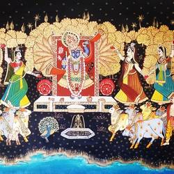 lord shrinathji, 36 x 24 inch, dr. srikanth kona,36x24inch,canvas,paintings,religious paintings,oil color,GAL01192932893