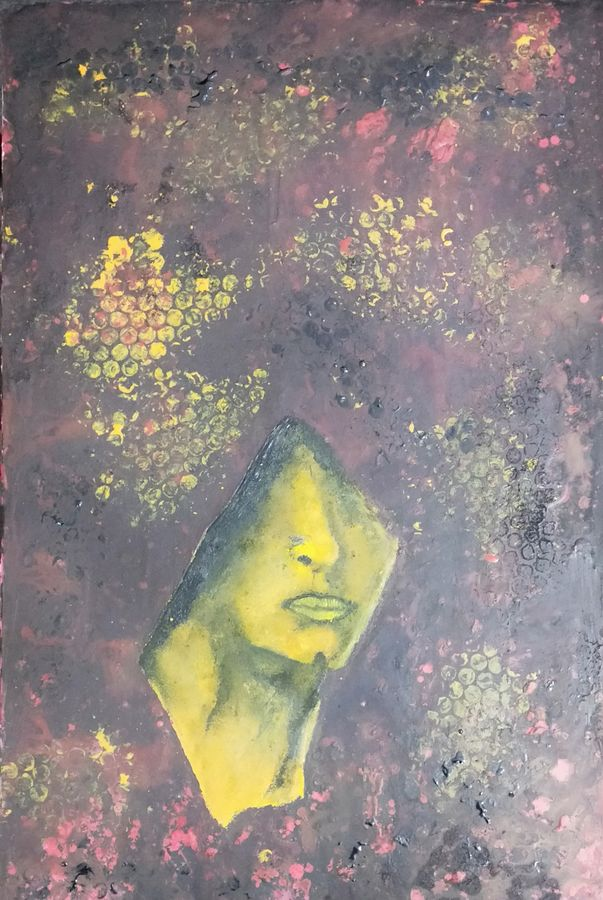 veil woman, 15 x 23 inch, sandeep kumar singh,15x23inch,hardboard,paintings,abstract paintings,modern art paintings,still life paintings,portrait paintings,nature paintings | scenery paintings,paintings for dining room,paintings for living room,paintings for bedroom,paintings for office,acrylic color,mixed media,oil color,pen color,poster color,watercolor,GAL02094332896