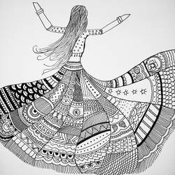if you stumble make it part of your dance, 21 x 28 inch, sowmya boddapaty,21x28inch,thick paper,expressionism drawings,pen color,GAL02104132898