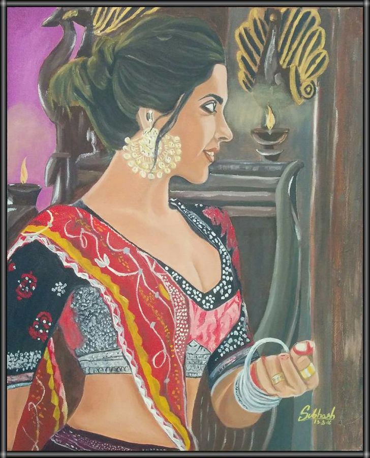 graceful and eligent, 16 x 20 inch, subhash gijare,figurative paintings,paintings for bedroom,cloth,oil,16x20inch,GAL0138329
