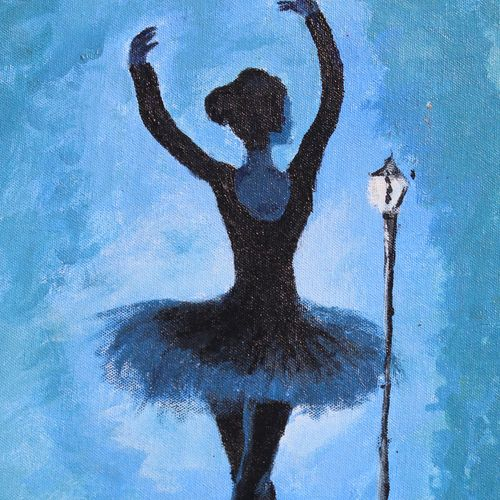 ballet dancer, 16 x 20 inch, khushbu soni,figurative paintings,paintings for living room,paintings,canvas,acrylic color,16x20inch,GAL012263290