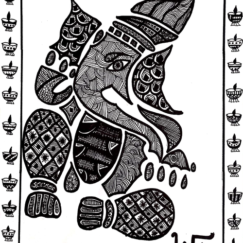 lord ganesha, 12 x 17 inch, cheena sehgal,12x17inch,cartridge paper,drawings,paintings for dining room,paintings for living room,paintings for office,paintings for kitchen,paintings for school,paintings for hospital,ganesha drawings,paintings for dining room,paintings for living room,paintings for office,paintings for kitchen,paintings for school,paintings for hospital,ink color,paper,GAL02100532908