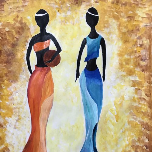 african art, 12 x 16 inch, sheetal chaudhary,12x16inch,ivory sheet,paintings,abstract paintings,figurative paintings,modern art paintings,paintings for dining room,paintings for living room,paintings for bedroom,paintings for office,paintings for kids room,paintings for hotel,paintings for kitchen,paintings for school,paintings for hospital,acrylic color,GAL01560332928