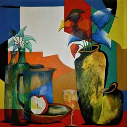 composition-11, 38 x 38 inch, rajeev sarkar,38x38inch,canvas,paintings,abstract paintings,acrylic color,GAL02046732937