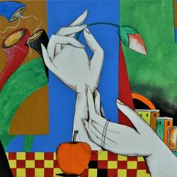 composition-12, 24 x 20 inch, rajeev sarkar,24x20inch,canvas,paintings,abstract paintings,acrylic color,GAL02046732938