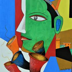 composition-13, 24 x 20 inch, rajeev sarkar,24x20inch,canvas,paintings,abstract paintings,acrylic color,GAL02046732939