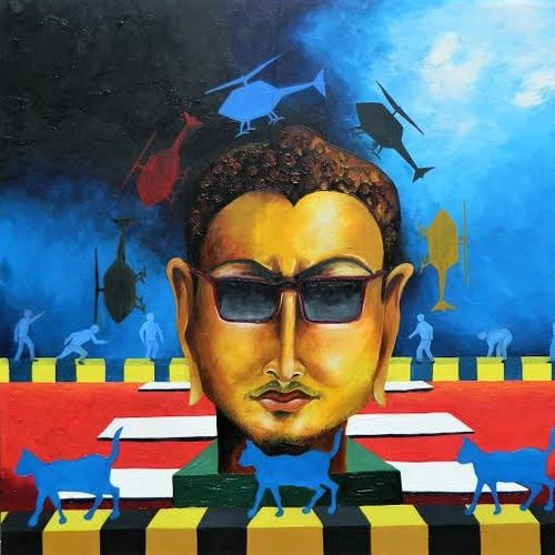 gen next-2, 48 x 48 inch, rajeev sarkar,48x48inch,canvas,paintings,abstract paintings,oil color,GAL02046732942
