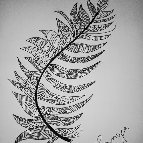 my form of a leaf, 21 x 28 inch, sowmya boddapaty,21x28inch,thick paper,paintings for living room,fine art drawings,paintings for living room,pen color,GAL02104132962
