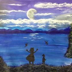 childhood , 12 x 16 inch, lisa serene,12x16inch,canvas,paintings,conceptual paintings,expressionism paintings,animal paintings,paintings for dining room,paintings for living room,paintings for bedroom,paintings for bathroom,paintings for kids room,paintings for hotel,paintings for kitchen,paintings for school,paintings for hospital,acrylic color,GAL01951232979