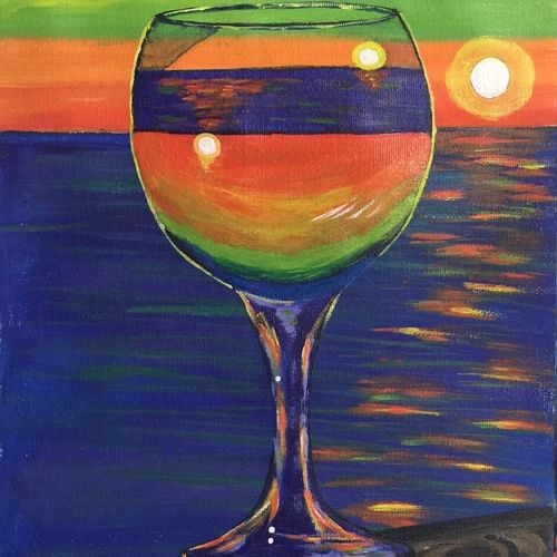 reflection on a wine glass, 7 x 10 inch, lisa serene,7x10inch,canvas,paintings,abstract paintings,still life paintings,abstract expressionism paintings,art deco paintings,expressionism paintings,impressionist paintings,paintings for dining room,paintings for living room,paintings for bedroom,paintings for office,paintings for bathroom,paintings for kids room,paintings for hotel,paintings for kitchen,paintings for school,paintings for hospital,acrylic color,GAL01951232984