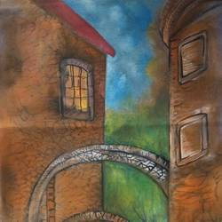 a deserted place, 13 x 28 inch, manoj kumar mishra,13x28inch,cloth,paintings,portrait paintings,nature paintings | scenery paintings,paintings for hotel,paintings for school,paintings for hospital,acrylic color,fabric,GAL02111932991