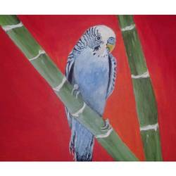 the bird , 12 x 8 inch, subhash gijare,wildlife paintings,paintings for living room,hardboard,acrylic color,12x8inch,GAL0138330