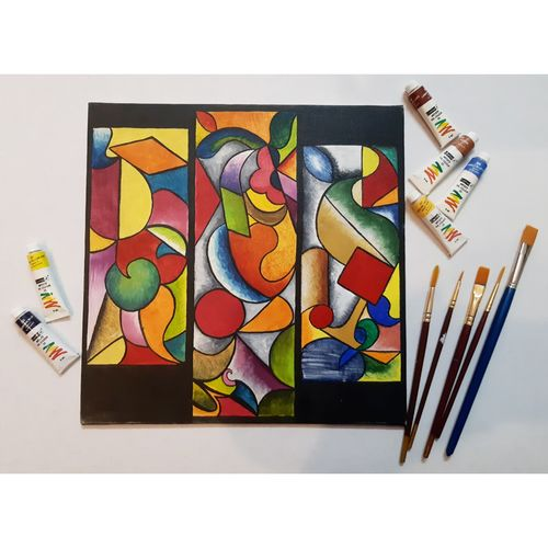 abstract graphics, 12 x 12 inch, anchal gupta,12x12inch,canvas,abstract paintings,modern art paintings,paintings for dining room,paintings for living room,paintings for office,paintings for hotel,paintings for dining room,paintings for living room,paintings for office,paintings for hotel,oil color,GAL02120933001