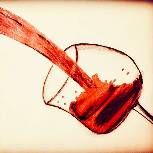 red wine artwork , 35 x 35 inch, sarmistha nanda,35x35inch,drawing paper,paintings,modern art paintings,paintings for dining room,paintings for living room,paintings for bedroom,paintings for hotel,paintings for kitchen,mixed media,paper,GAL02064633062