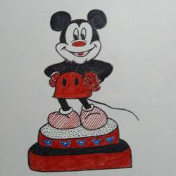micky mouse, 10 x 10 inch, pratibha bapat,10x10inch,thick paper,drawings,kids drawings,pencil color,GAL02123933077