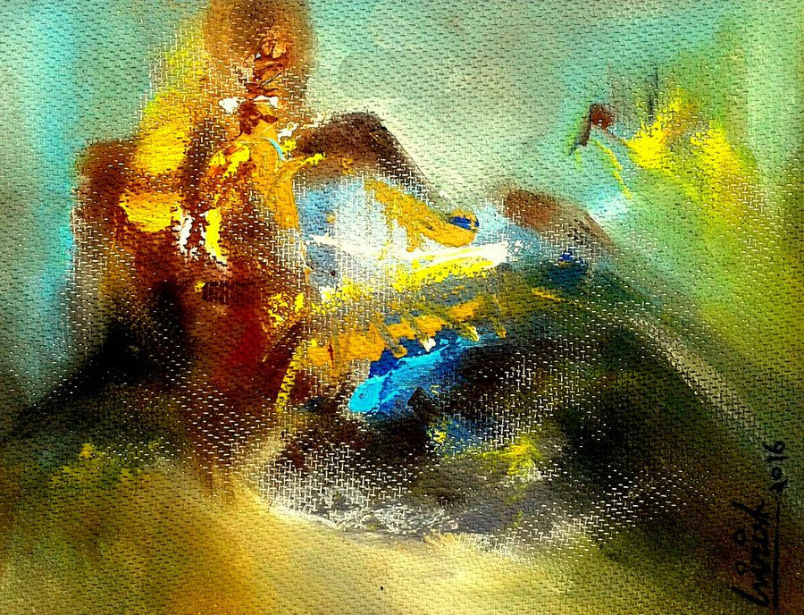 untitle-- abstract , 10 x 8 inch, girish chandra vidyaratna,abstract paintings,paintings for dining room,paintings,hardboard,acrylic color,10x8inch,GAL0363308