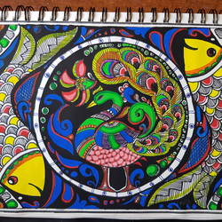 madhubani peacock, 7 x 9 inch, shraddha tibhe,7x9inch,paper,figurative paintings,illustration paintings,kerala murals painting,paintings for dining room,paintings for living room,paintings for bedroom,paintings for office,paintings for bathroom,paintings for kitchen,paintings for school,paintings for hospital,paintings for dining room,paintings for living room,paintings for bedroom,paintings for office,paintings for bathroom,paintings for kitchen,paintings for school,paintings for hospital,paper,GAL02128433092