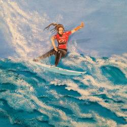 surfing , 24 x 18 inch, subhash gijare,figurative paintings,paintings for office,canvas,acrylic color,24x18inch,GAL0138331