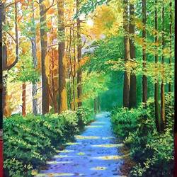 the jungle trail , 24 x 36 inch, kaushik chongdar,24x36inch,canvas,paintings,landscape paintings,paintings for dining room,paintings for living room,paintings for bedroom,paintings for office,paintings for hotel,paintings for school,acrylic color,GAL02130033105