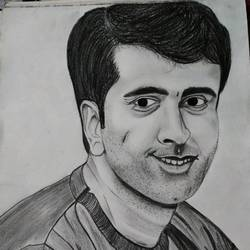 abir chatterjee, 11 x 14 inch, siuli mandal,11x14inch,drawing paper,figurative drawings,graphite pencil,GAL02130433130
