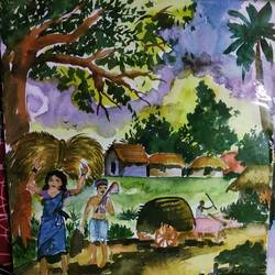 village, 11 x 15 inch, siuli mandal,11x15inch,drawing paper,figurative paintings,nature paintings | scenery paintings,realistic paintings,paintings for dining room,paintings for living room,paintings for bedroom,paintings for office,paintings for hotel,paintings for dining room,paintings for living room,paintings for bedroom,paintings for office,paintings for hotel,acrylic color,fabric,watercolor,GAL02130433144