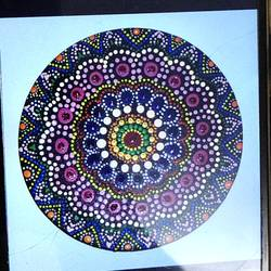 dot mandala art, 8 x 8 inch, haritha gopisetty,8x8inch,canvas,paintings,paintings for dining room,paintings for living room,paintings for bedroom,paintings for office,paintings for kids room,acrylic color,GAL02133433167