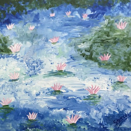 lotus , 24 x 24 inch, sheetal chaudhary,24x24inch,canvas,paintings,abstract paintings,buddha paintings,flower paintings,landscape paintings,modern art paintings,nature paintings | scenery paintings,abstract expressionism paintings,paintings for dining room,paintings for living room,paintings for bedroom,paintings for office,paintings for kids room,paintings for hotel,paintings for kitchen,paintings for school,paintings for hospital,acrylic color,GAL01560333174