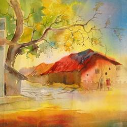 winter morning, 21 x 15 inch, padmini abrol,21x15inch,thick paper,paintings,abstract paintings,landscape paintings,still life paintings,nature paintings | scenery paintings,realistic paintings,paintings for dining room,paintings for living room,paintings for bedroom,paintings for office,paintings for bathroom,paintings for kids room,paintings for hotel,paintings for kitchen,paintings for school,paintings for hospital,watercolor,GAL0314933189
