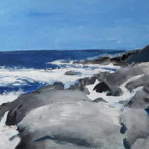 the blue sea, 16 x 12 inch, tejal bhagat,16x12inch,canvas board,paintings,landscape paintings,nature paintings | scenery paintings,expressionism paintings,impressionist paintings,photorealism paintings,photorealism,realism paintings,surrealism paintings,contemporary paintings,paintings for dining room,paintings for living room,paintings for bedroom,paintings for office,paintings for bathroom,paintings for hotel,paintings for kitchen,paintings for school,paintings for hospital,acrylic color,GAL02041533213