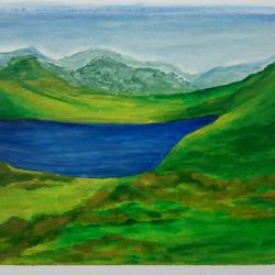 the lake, 16 x 12 inch, praveena shree egambaram,16x12inch,canvas board,paintings,abstract paintings,wildlife paintings,landscape paintings,modern art paintings,conceptual paintings,nature paintings | scenery paintings,expressionism paintings,illustration paintings,photorealism paintings,photorealism,realism paintings,contemporary paintings,realistic paintings,paintings for dining room,paintings for living room,paintings for bedroom,paintings for office,paintings for kids room,paintings for hotel,paintings for kitchen,paintings for school,paintings for hospital,acrylic color,GAL0681433256