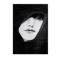 dark eyes , 12 x 17 inch, nikhil kamble,abstract expressionist drawings,paintings for living room,drawing paper,graphite pencil,12x17inch,GAL012123327