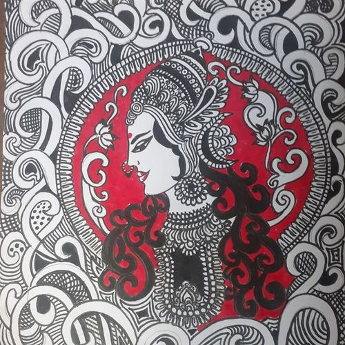 doodle art, 9 x 12 inch, shruti tandon,9x12inch,drawing paper,paintings for living room,abstract drawings,paintings for living room,pencil color,graphite pencil,GAL02149733298