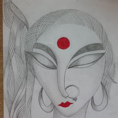 doodle art, 9 x 12 inch, shruti tandon,9x12inch,drawing paper,drawings,abstract drawings,paintings for living room,pencil color,graphite pencil,GAL02149733300