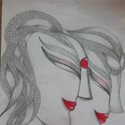 doodle art, 9 x 12 inch, shruti tandon,9x12inch,paper,paintings for living room,abstract drawings,paintings for living room,pencil color,graphite pencil,GAL02149733301