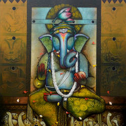 ganpati bappa 20, 48 x 60 inch, anupam  pal,48x60inch,canvas,paintings,buddha paintings,wildlife paintings,figurative paintings,flower paintings,folk art paintings,foil paintings,cityscape paintings,landscape paintings,modern art paintings,multi piece paintings,conceptual paintings,religious paintings,still life paintings,portrait paintings,nature paintings | scenery paintings,art deco paintings,dada paintings,expressionism paintings,illustration paintings,impressionist paintings,minimalist paintings,photorealism paintings,photorealism,pop art paintings,portraiture,realism paintings,street art,surrealism paintings,ganesha paintings | lord ganesh paintings,animal paintings,radha krishna paintings,contemporary paintings,love paintings,horse paintings,mother teresa paintings,dog painting,elephant paintings,water fountain paintings,baby paintings,kids paintings,paintings for dining room,paintings for living room,paintings for bedroom,paintings for office,paintings for bathroom,paintings for kids room,paintings for hotel,paintings for kitchen,paintings for school,paintings for hospital,paintings for dining room,paintings for living room,paintings for bedroom,paintings for office,paintings for bathroom,paintings for kids room,paintings for hotel,paintings for kitchen,paintings for school,paintings for hospital,acrylic color,GAL08233319